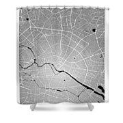 Berlin Street Map - Berlin Germany Road Map Art On Colored Backg Shower Curtain