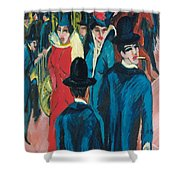 Berlin Street Scene Shower Curtain
