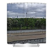 Berlin Wall No Man's Land Shower Curtain
