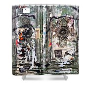 Berlin Walls-green Doors Shower Curtain