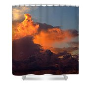 Bermuda Clouds Shower Curtain