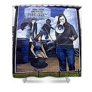 Bernadette Devlin Mural Shower Curtain