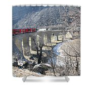 Bernina Express In Winter Shower Curtain
