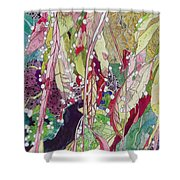 Berries And Cactus Shower Curtain