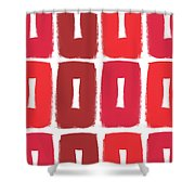Berry Boxes- Contemporary Abstract Art Shower Curtain