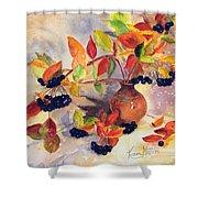 Berry Harvest Still Life Shower Curtain