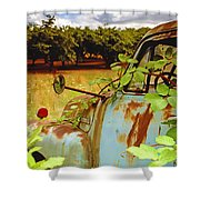 Berry Old Truck 2 Shower Curtain