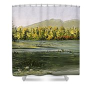 Berry Pond Shower Curtain