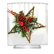 Berry Star Shower Curtain