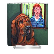Bloodhound - Bervil And Blue Shower Curtain