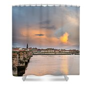Berwick And Its Old Bridge Shower Curtain