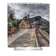 Berwyn Railway Station Shower Curtain
