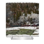 Beside The Animas River Shower Curtain