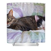 Best Friends  Shower Curtain by Andee Design
