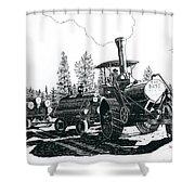 Best Steam Traction Engine Shower Curtain