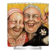 Bestest Friends Shower Curtain