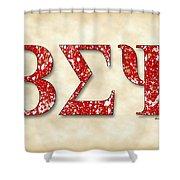 Beta Sigma Psi - Parchment Shower Curtain