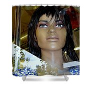 Bethany In Bangs Shower Curtain
