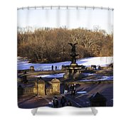 Bethesda Fountain 2013 - Central Park - Nyc Shower Curtain by Madeline Ellis