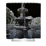 Bethesda Fountain Abstract Shower Curtain