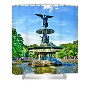 Bethesda Fountain At Central Park Shower Curtain