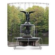 Bethesda Fountain Central Park Nyc Shower Curtain
