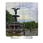 Bethesda Fountain II Shower Curtain