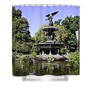 Bethesda Fountain Iv - Central Park Shower Curtain