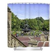 Bethesda Fountain V - Central Park Shower Curtain