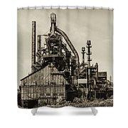 Bethlehem Pa Steel Plant   Shower Curtain