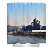 Bethlehem Steel And The Lehigh River Shower Curtain