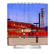 Bethlehem Steel Buildings Shower Curtain