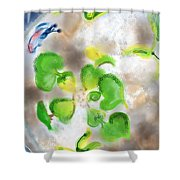 Betta Fish Blowing Bubbles Shower Curtain by Lois Ivancin Tavaf