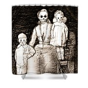 Bettina And The Twins Shower Curtain