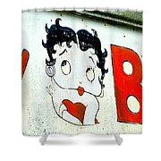 Betty Boop Herself Shower Curtain