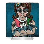 Betty Jeans Beatles Shower Curtain