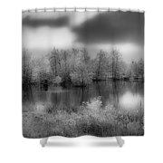 Between Black And White-24 Shower Curtain