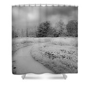Between Black And White-25 Shower Curtain