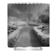 Between Black And White-26 Shower Curtain