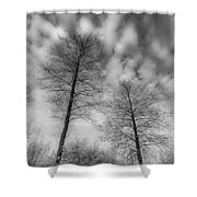 Between Black And White-30 Shower Curtain