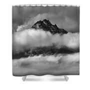 Between Cloud Layers Shower Curtain
