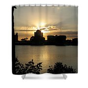 Between Day And Night Shower Curtain