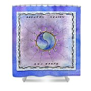 Between Heaven And Earth Shower Curtain by Diane Thornton