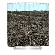 Between Sky And Field Shower Curtain
