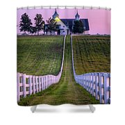 Between The Fences Shower Curtain