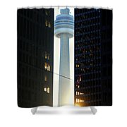 Between The Giants Shower Curtain