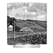 Between The Lines - Bw Shower Curtain