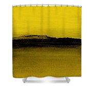 Between The Woods And Frozen Lake   Number Nine Shower Curtain