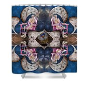 Between Time Shower Curtain