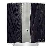 Between Worlds Shower Curtain